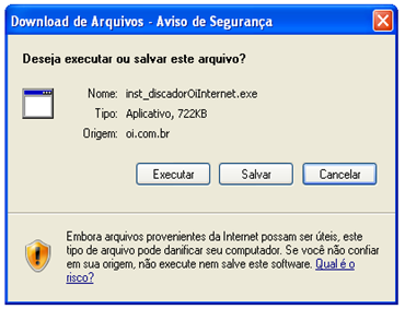 Download arquivo executável do Discador